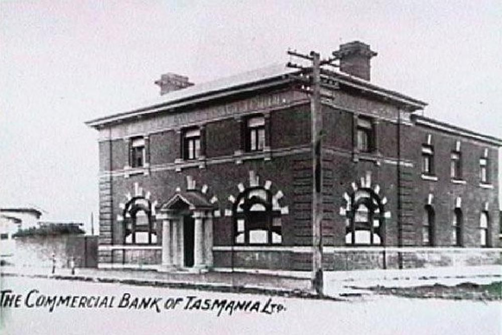 The Commercial Bank from the main Street (demolished in 1973)